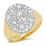 Eriness Jewelry Diamond Signet Ring