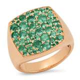 Eriness Jewelry Emerald Cushion Signet Ring