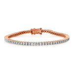 14K Rose Gold Diamond Classic Tennis Bracelet
