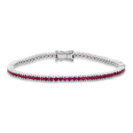 White Gold Ruby Classic Tennis Bracelet