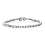 14K White Gold Diamond Classic Tennis Bracelet