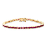 Yellow Gold Ruby Classic Tennis Bracelet