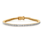 14K Yellow Gold Diamond Classic Tennis Bracelet
