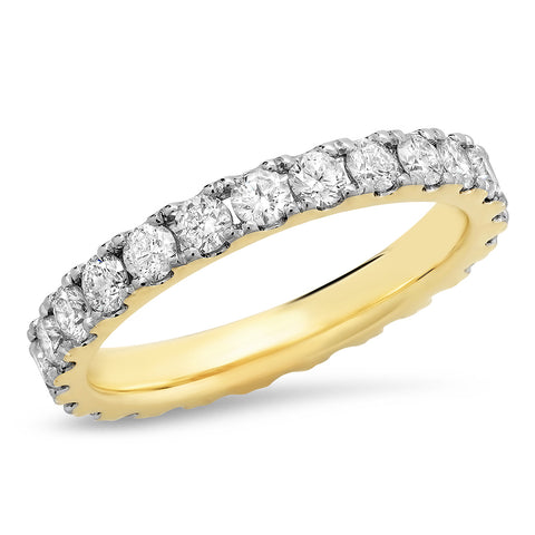 14K Yellow Gold Large Diamond Eternity Band