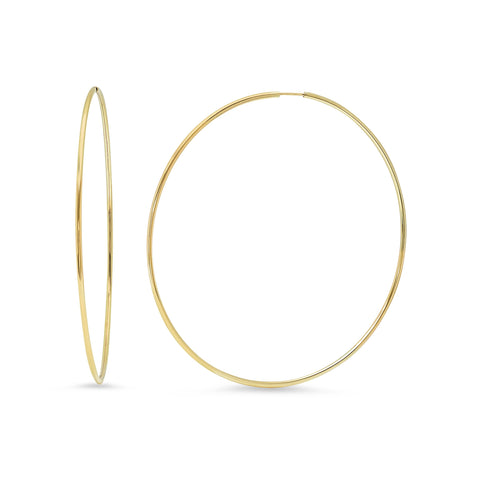 Eriness Jewelry 2 Inch Gold Tube Hoops