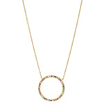Eriness Jewelry Multi Colored Circle Necklace