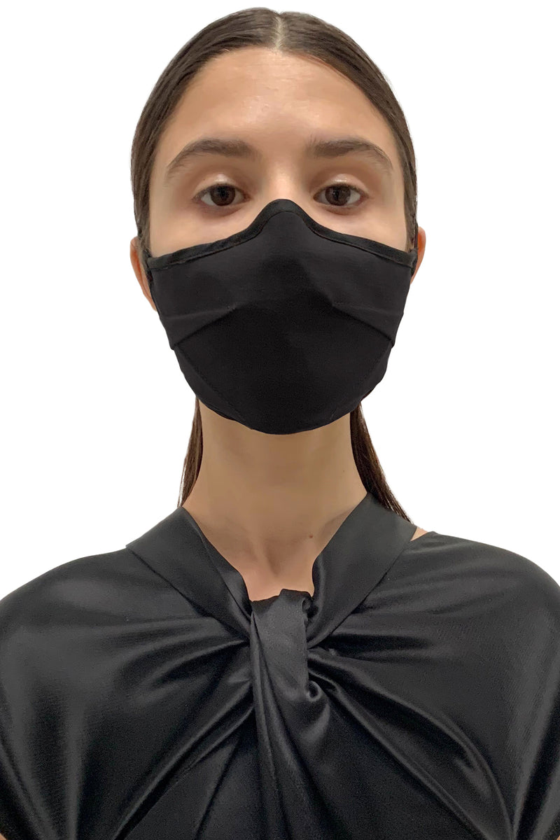 Black Darted Face Mask
