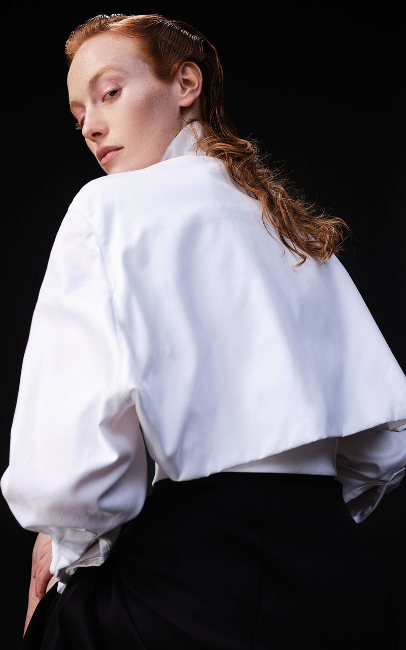 OPEN BACK CROPPED SHIRT