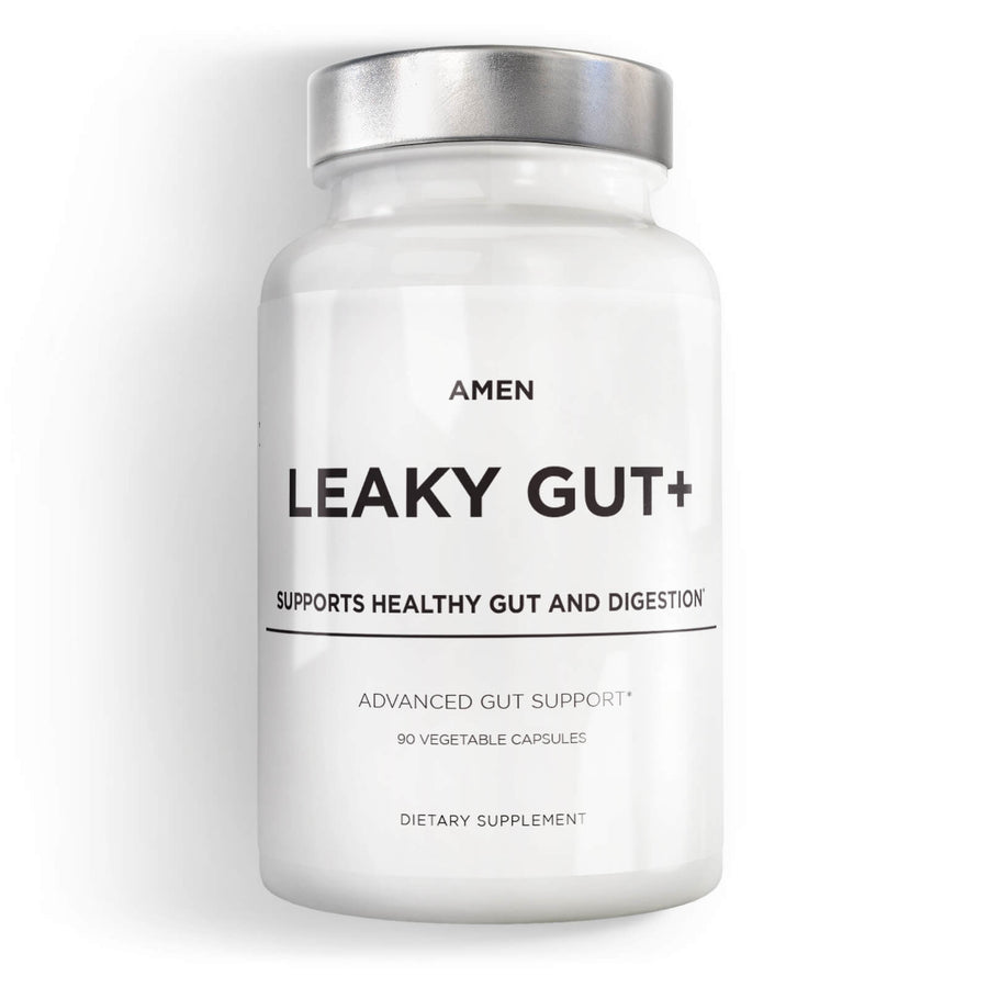 Amen Leaky Gut Health capsules supplement front
