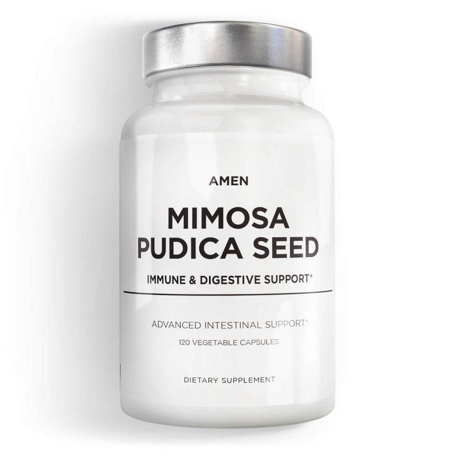 Amen Mimosa Pudica Seed capsules supplement front