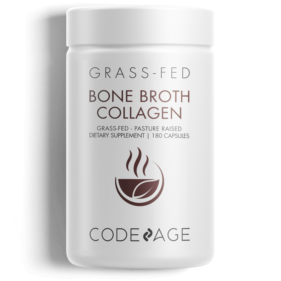 Grass Fed Organic Beef Bone Broth Supplement Codeage Front