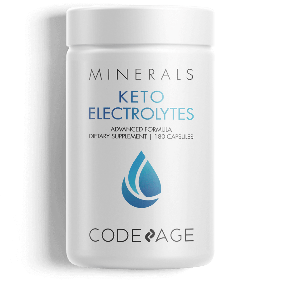 Codeage Keto Electrolytes Keto Diet Low Carbs Diet Mineral Supplement Front