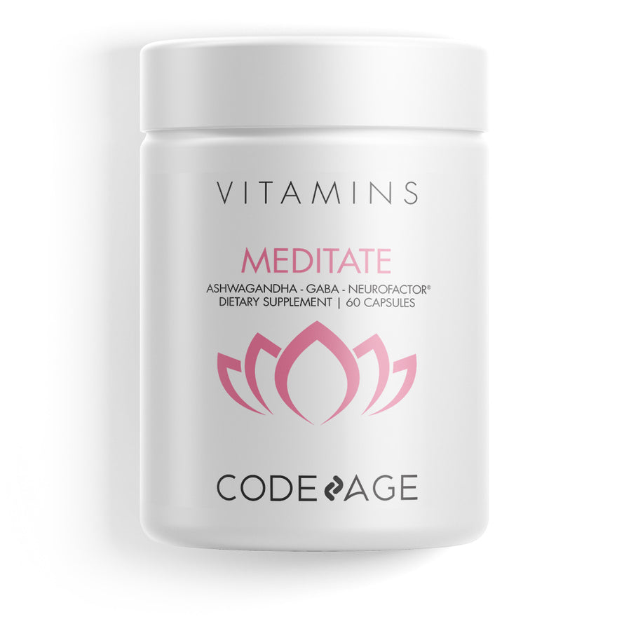 Codeage Meditation Stress Relief Supplement Nutrition Vitamins Ingredients Capsules Anxiety