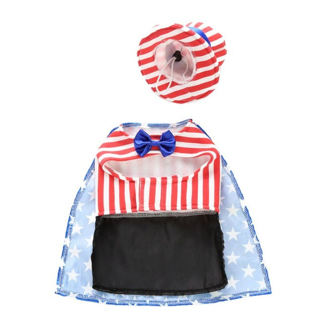 USA Flag/Uncle Sam Costume for Dogs