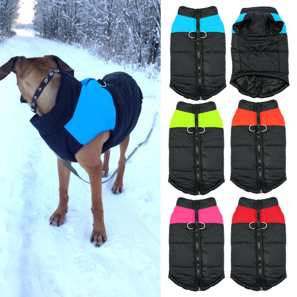 Waterproof Dog Vest Jacket - Warm Winter Dog Clothes