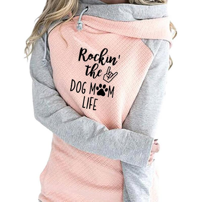 "New Fashion ""Rockin The Dog Mom Life"" Hoodie"