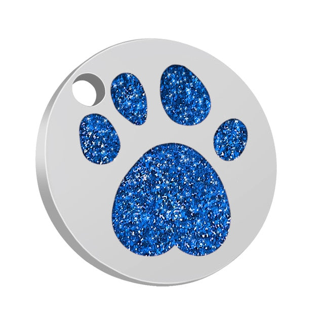 Dog ID Tag Engraved Metal Customized Pet Tags Small Large Dog Accessories Personalized Bone Paw Name Tag Plate Collar Decoration