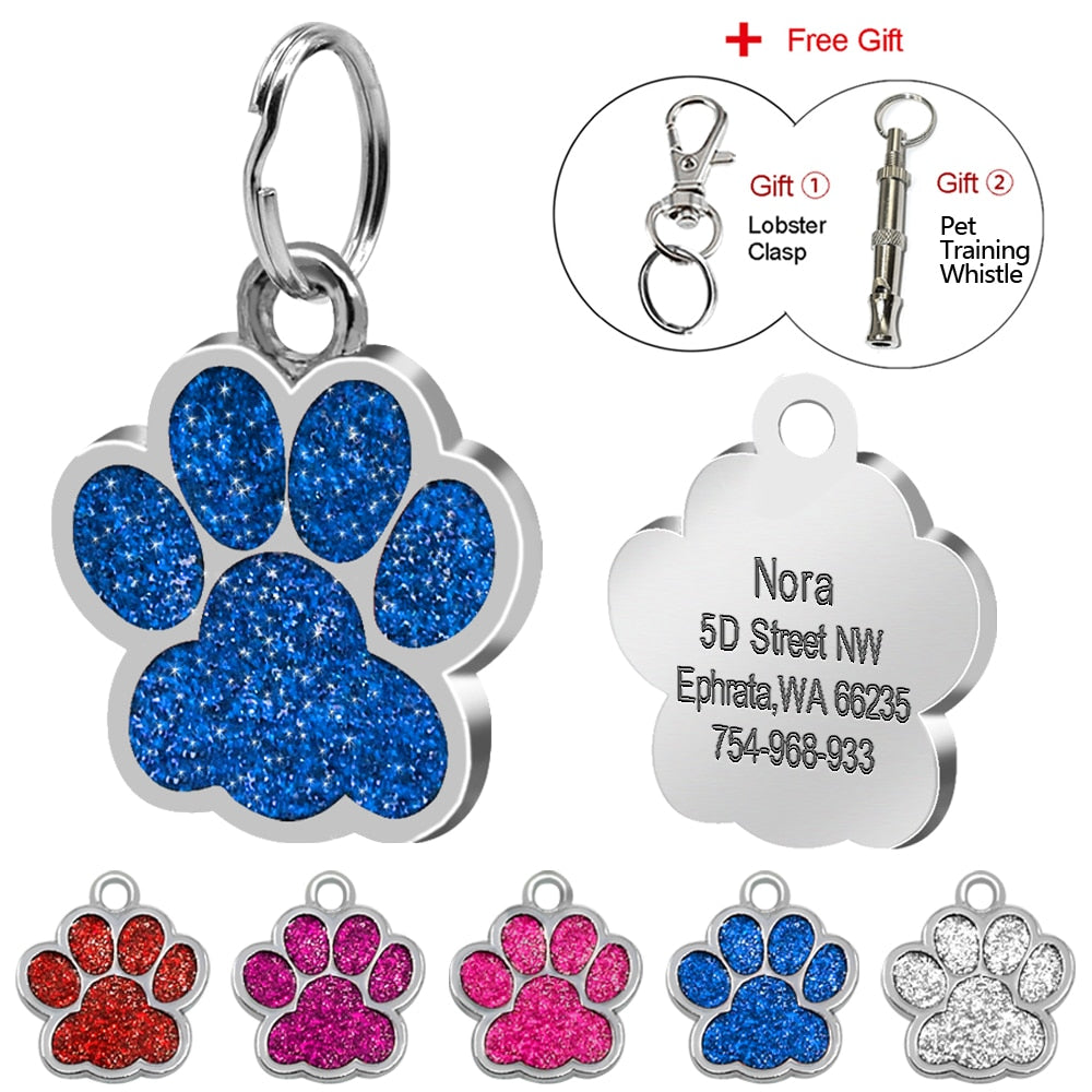 Personalized Dog ID Tag - Free Whistle
