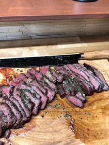 Reverse Seared 45 Day Dry Aged New York Steaks With Roasted Garlic And Herb Compound Butter From CCM Ambassador Austen Granger