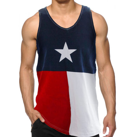 Texas Flag Lone Star State Men's Tank Top 100% Cotton