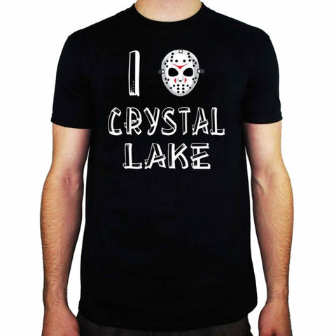 I Heart Crystal Lake Friday The 13th Classic Horror Licensed Men's T-Shirt