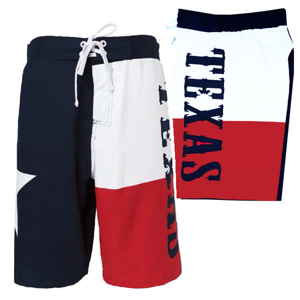 Texas Flag - Lone Star State - Men's Vacation Shorts Swim Trunks