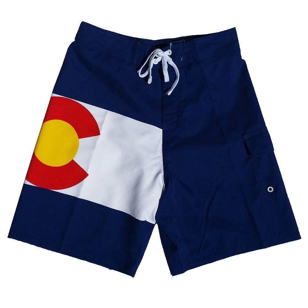 Colorado State Flag - Rocky Mountain Mile High - Men's Shorts Swim Trunks
