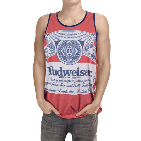Budweiser King Of Beers Retro Label Licensed Men's Tank Top