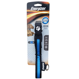 Energizer Ignite LED Light Adjustable Safety Dog Collar - Blue