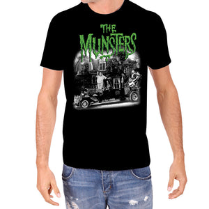 The Munsters Family Coach Rock Rebel Licensed Men's Classic Horror T-Shirt