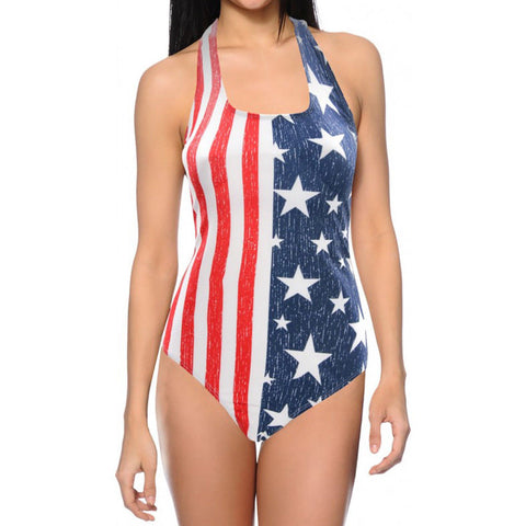 USA American Flag Stars And Stripes - Women's 1 Piece Swimsuit