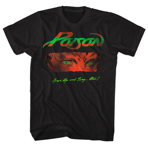 Poison Open Up And Say Ahh Licensed Classic Rock Men's T-Shirt