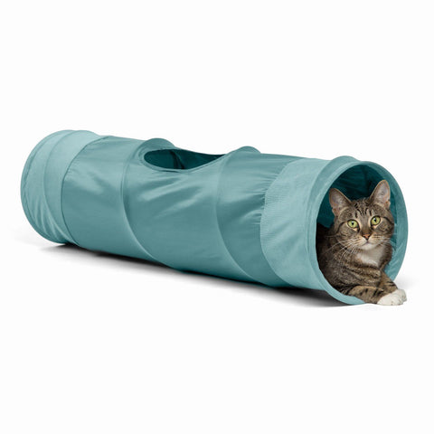 "Best Friends by Sheri Cat Tunnel with Toy - Ilan Oxford Tide Pool - 36"" x 10"""