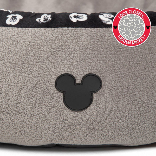 Disney Mickey Mouse Logo Cozy Cuddler  – Dog Bed – Cat Bed – Medium Gray 27""