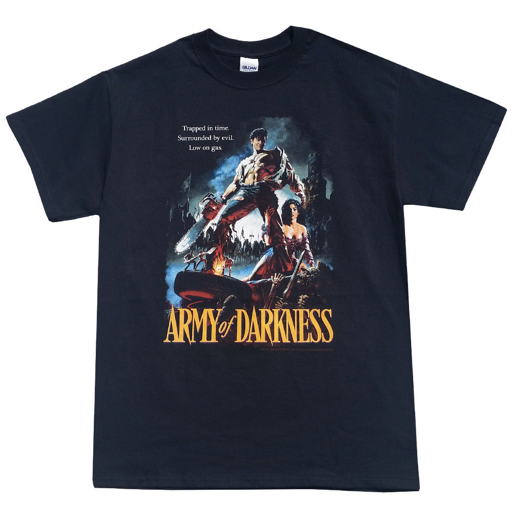 Army Of Darkness Trapped In Time - Bruce Campbell - Men's Classic Horror T-Shirt