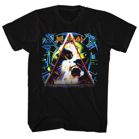 Def Leppard - Hysteria | Black S/S Adult T-Shirt