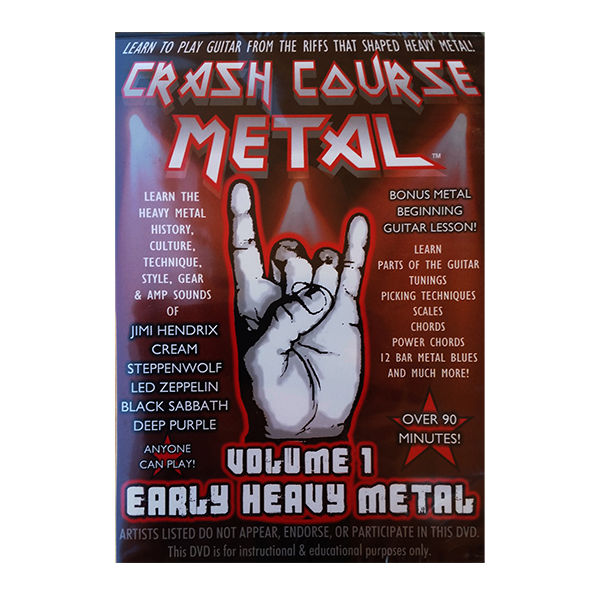 CRASH COURSE METAL VOLUME 1 EARLY HEAVY METAL GUITAR INSTRUCTIONAL DVD - DVDs & Movies:DVDs & Blu-ray Discs - Coastline Mall