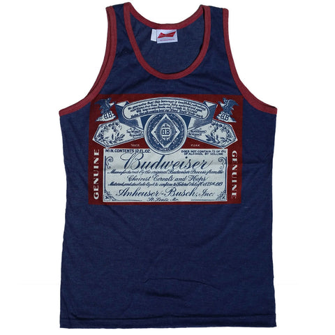 Budweiser Distressed Prohibition Label Men's Tank Top