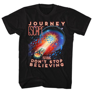 Journey Escape Don't Stop Believing Licensed Men's Classic Rock T-Shirt