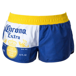 Corona Extra Label - La Cerveza Mas Fina - Women's Shorty Athletic Swim Shorts