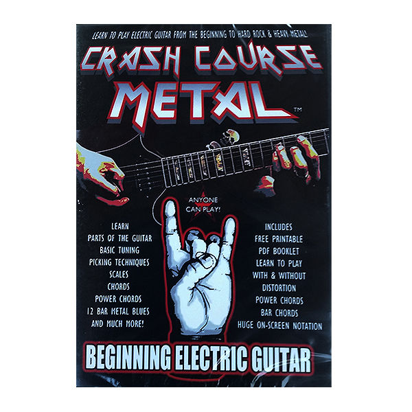 CRASH COURSE METAL BEGINNING ELECTRIC GUITAR DVD