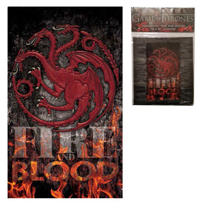 Game Of Thrones House Targaryen Fire And Blood Banner Officially Licensed 30'...