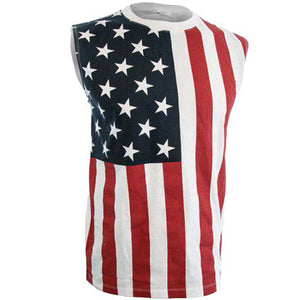 USA American Flag Stars And Stripes Men's Sleeveless T-Shirt