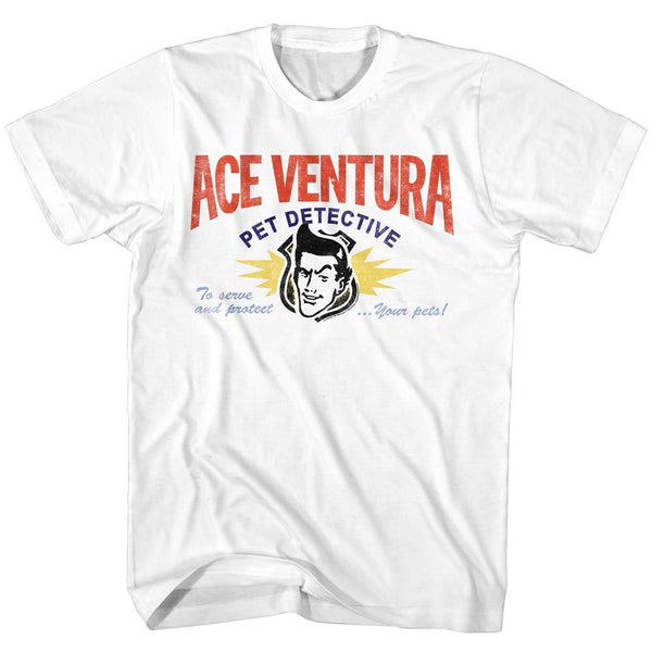 Ace Ventura-Card-White Adult S/S Tshirt