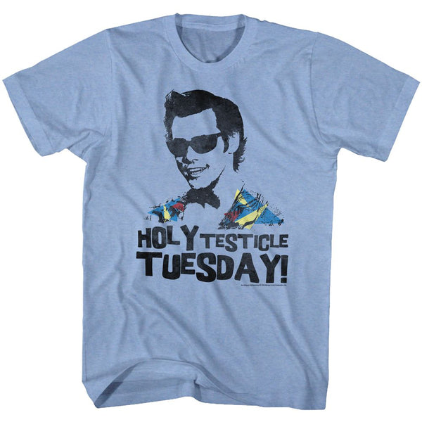 Ace Ventura-Tuesday-Light Blue Heather Adult S/S Tshirt