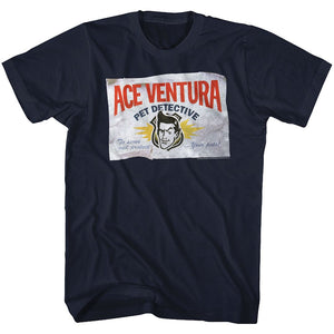 Ace Ventura-Business-Navy Adult S/S Tshirt