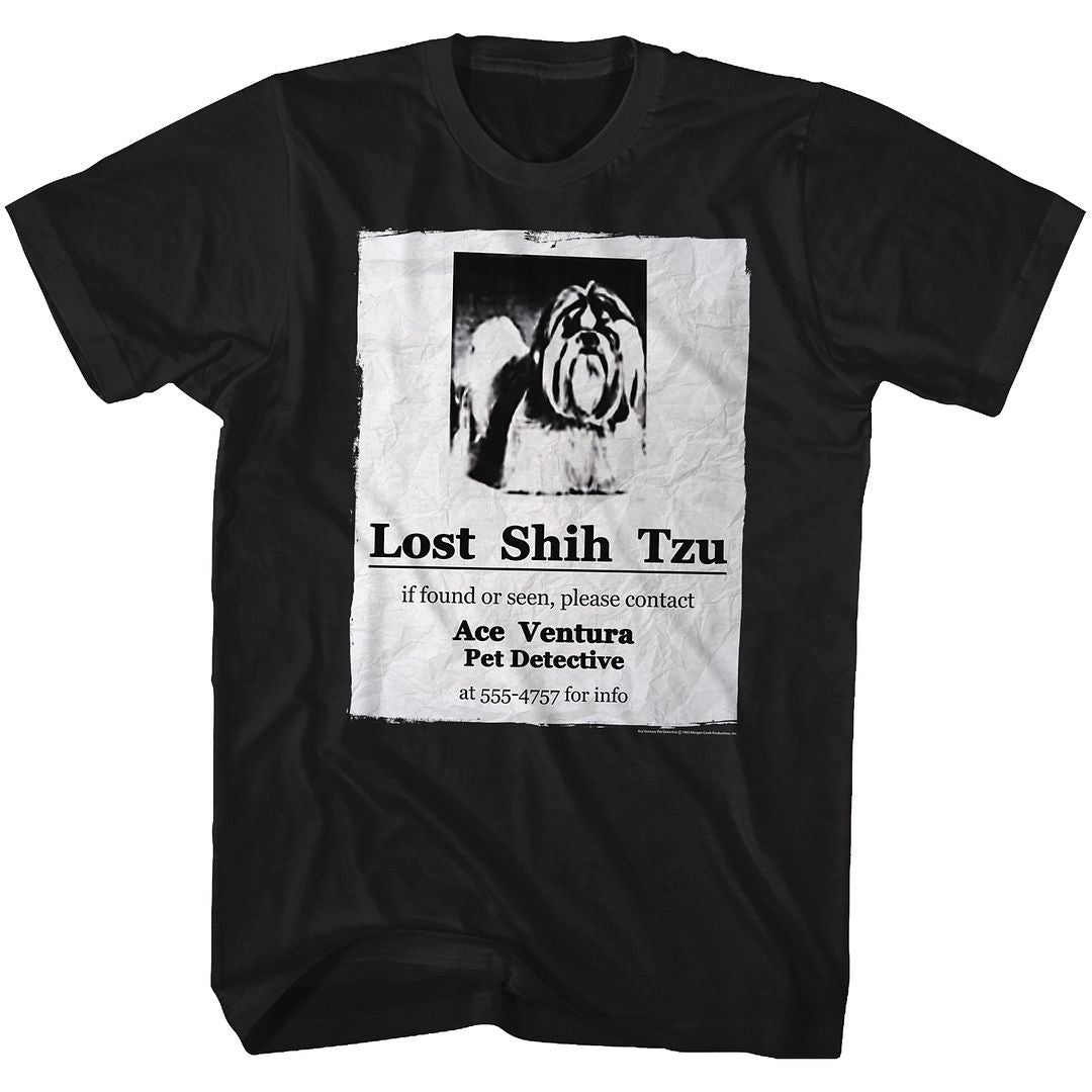 Ace Ventura-Lost-Black Adult S/S Tshirt