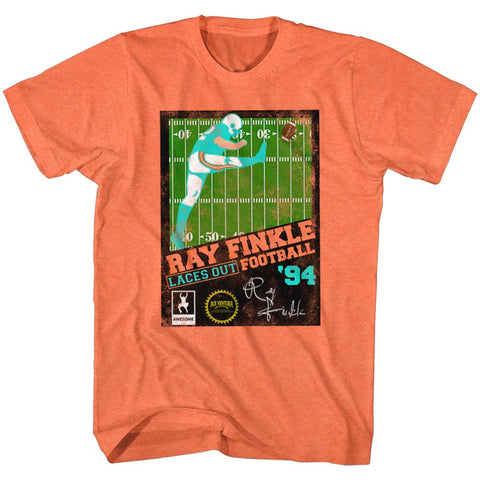 Ace Ventura-Ray Finkle Football-Bright Orange Heather Adult S/S Tshirt