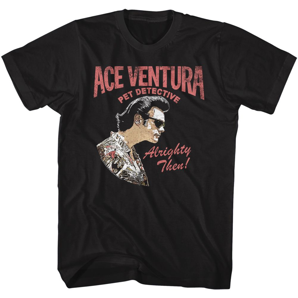 Ace Ventura-Ace Profile-Black Adult S/S Tshirt