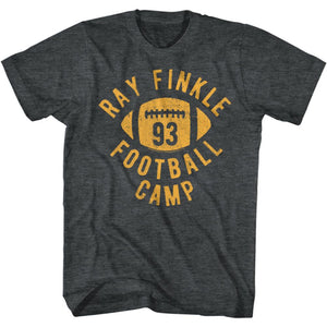 Ace Ventura-Finklefootball-Black Heather Adult S/S Tshirt